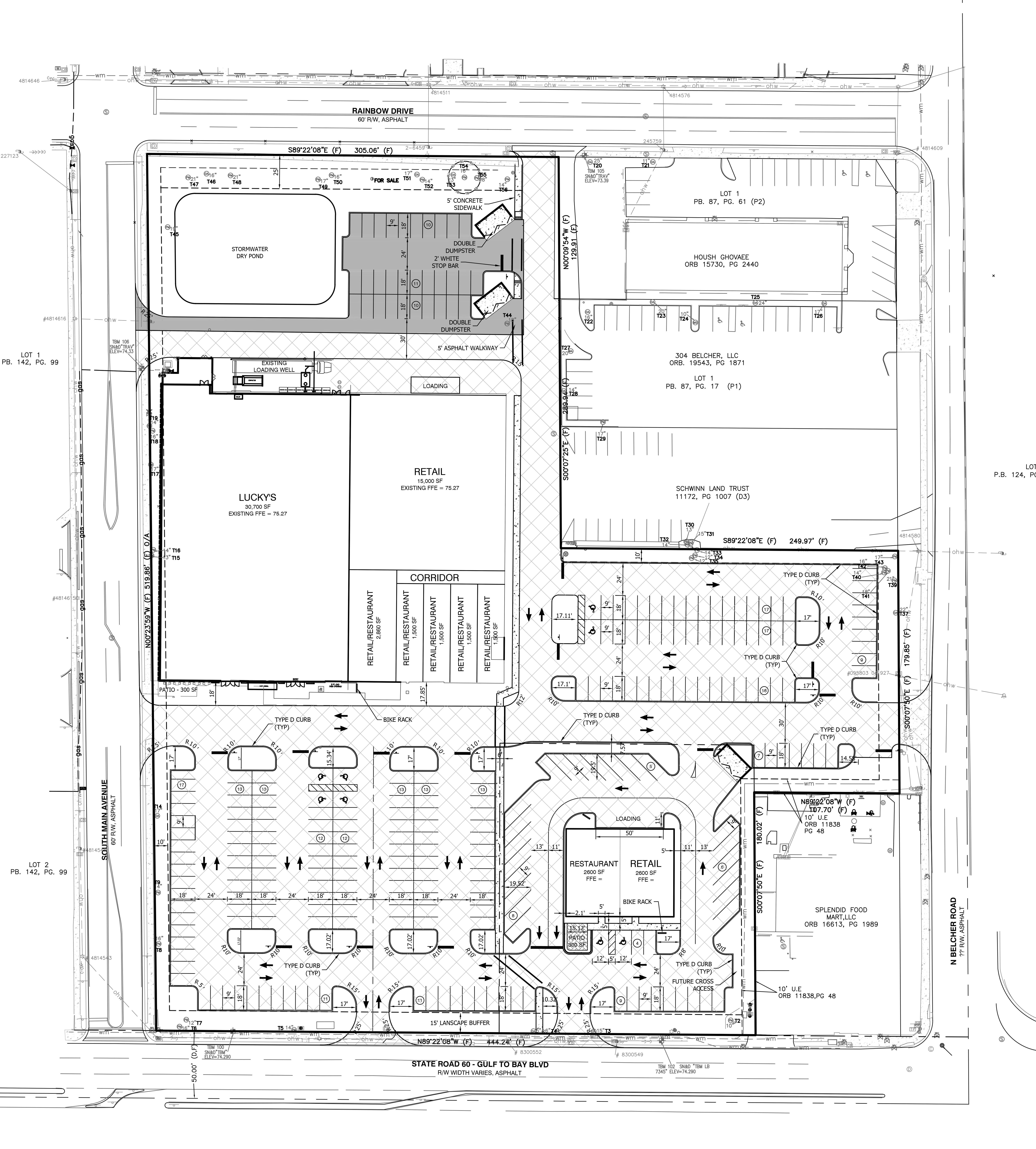 Clearwater Florida Map.Former Albertsons Redevelopment Gulf To Bay Belcher Rd